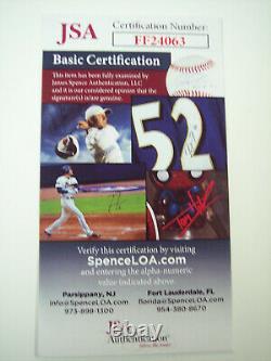 Dale Long 8 For 8 Hr's 1956 Signed American League (brown) Baseball Jsa