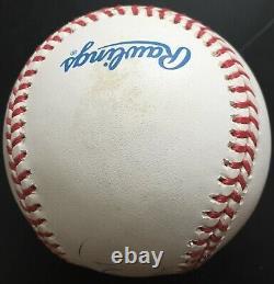 Derek Jeter Rookie Era Signed Vintage American League (Budig) Baseball, JSA LOA