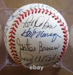 Detroit Tigers 1968 World Series Champions American League Baseball Signed by 22