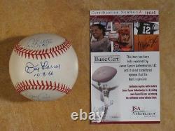 Don Larsen David Wells David Cone Yankees Perfect Game Signed Autograph Ball Jsa