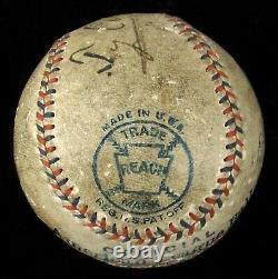 Earliest Known Ty Cobb Single Signed 1912 American League Baseball JSA COA