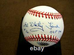 Ed Whitey Ford # 16 Hof 74 Yankees Signed Auto Vintage Oal Baseball Jsa Beauty