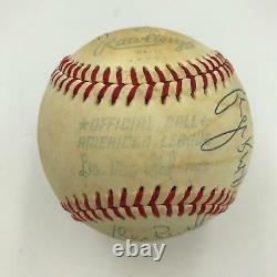Incredible 1970's George Brett 11 Times! Signed American League Baseball PSA DNA