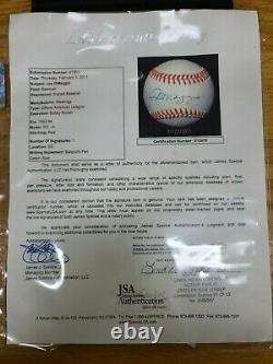 JOE DIMAGGIO Autographed Official American League Baseball