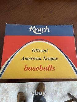 Joe Cronin 1960-69 Reach Official American League Baseballs Dozen with Box Rare