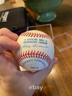 Joe DiMaggio Autographed American League Baseball