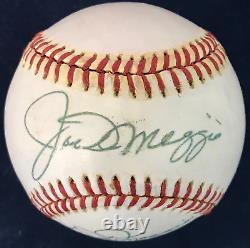 Joe DiMaggio & Dom DiMaggio Signed Official American League Baseball (JSA)