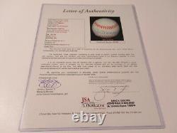 Joe DiMaggio NY Yankees signed Autographed American League baseball JSA Letter