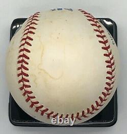 Joe DiMaggio Signed Rawlings B. Brown Official American League Baseball Full PSA