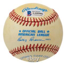 Joe DiMaggio Signed Yankees American League Baseball BAS LOA AA05906
