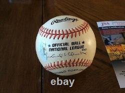 Joe Dimaggio Auto Autographed Signed Rawlings American League Baseball Jsa Loa