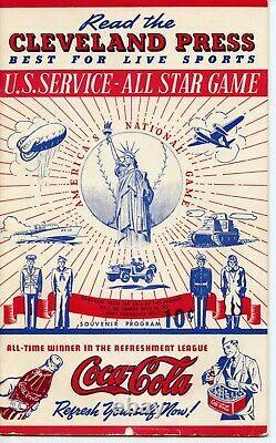 July 7, 1942 All-Star Game Program. American League All-Star team vs. Military