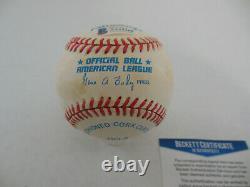 KEN GRIFFEY JR. Signed Autographed American League OAL Baseball Beckett BAS COA