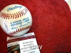 KIRBY PUCKETT Signed American League Baseball -JSA Authenticated