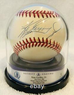 Ken Griffey Jr. Autographed Auto American League Baseball Beckett Graded 8.0
