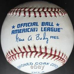 Kirby Puckett Autographed HOF 2001 American League baseball, Field of Dreams LOA