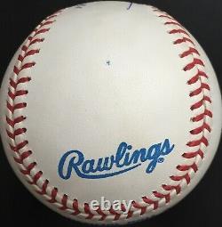 Kirby Puckett Autographed HOF 2001 American League baseball, PSA NM 7.5