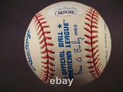 Kirby Puckett Signed American League Baseball withHOF 01 inscription JSA