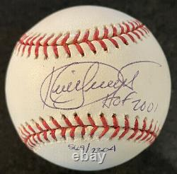 Kirby Puckett Signed American League Baseball with HOF 01 inscription
