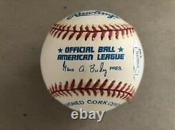 Larry Doby Signed American League Rawlings Baseball Inscribed 7/5/47 Jsa Coa