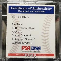 Lefty Gomez Autographed American League Baseball, PSA Grade MINT 9