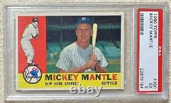 Mantle 1960 Topps Psa 5 Centered Nice Surface Color (priced To Sell) Free Ship