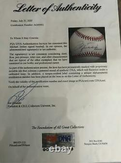 Michael Jordan Signed American League Baseball PSA Certified