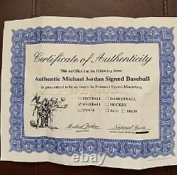 Michael Jordan Signed Autographed Rawlings Official American League Baseball