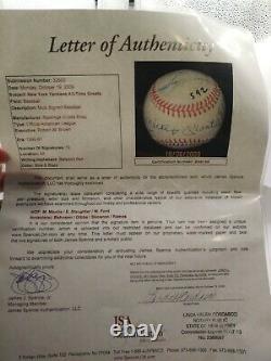 Mickey Mantle 12 Signatures/AUTO American League Ball Baseball JSA CERTIFIED
