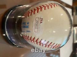 Mickey Mantle Autographed American League Baseball-Beckett Graded 9-JSA COA