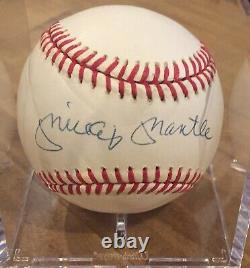 Mickey Mantle Autographed Authentic American League Baseball With Psa Coa