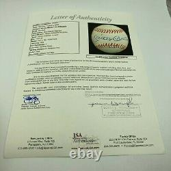 Mickey Mantle & Joe Dimaggio Signed 1943 American League Harridge Baseball JSA