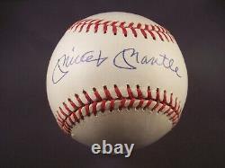 Mickey Mantle Signed American League Baseball JSA