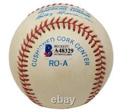 Mickey Mantle Signed New York Yankees American League Baseball BAS LOA A48329