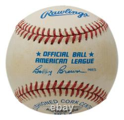 Mickey Mantle Signed Yankees American League Baseball No. 7 Inscribed with Case UDA