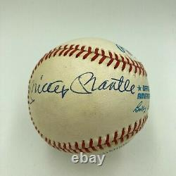 Mickey Mantle & Whitey Ford Signed Official American League Baseball PSA DNA COA
