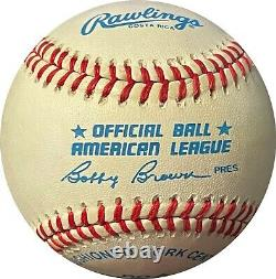 Mickey Mantle signed ROAL OFC Rawlings American League Baseball Beckett Review
