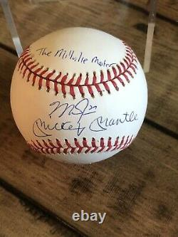 Mike Trout and Mickey Mantle autograph American League Bobby Brown AL Baseball