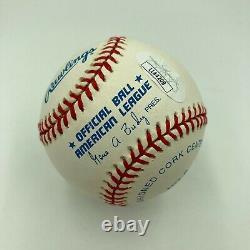 Mint Nolan Ryan Hall Of Fame 7-25-1999 Signed American League Baseball JSA COA
