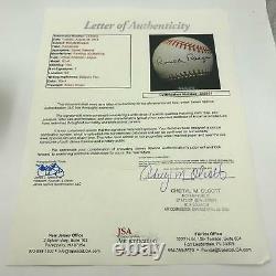 Mint President Ronald Reagan Single Signed American League Baseball JSA COA