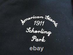NWT Chicago American Giants Negro League Baseball Jacket MENS XL Black Grey