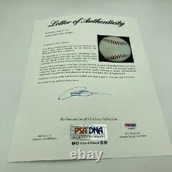 Napoleon Nap Lajoie Single Signed 1940's American League Baseball PSA DNA COA