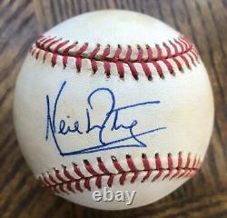 Neil Armstrong- Gene Budig American League Baseball Signed