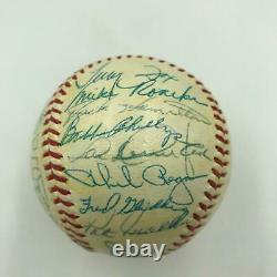 Nice 1964 Detroit Tigers Team Signed American League Baseball With JSA COA