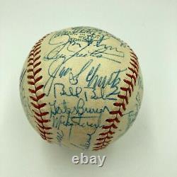 Nice 1973 Detroit Tigers Team Signed American League Harridge Baseball JSA COA