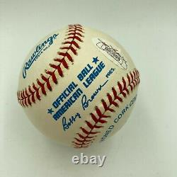 Nice Ted Williams Signed Autographed American League Baseball Mint Sig JSA COA