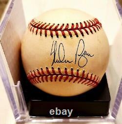 Nolan Ryan Signed Auto Autograph American League Baseball Psa/dna With Holder