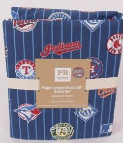 Pottery Barn Teen MLB Major League Baseball Queen sheet, American