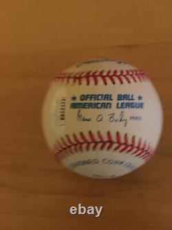 President Gerald Ford signed Budig Official American League Baseball JSA LOA