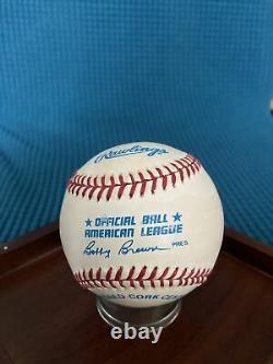 President Gerald Ford signed Official American League Baseball COA MMA